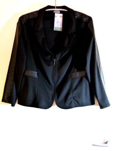 Veste Seidel Gr superposé Look Nouveau noir 44 Cuirette Avec stretch aSrqFwxa