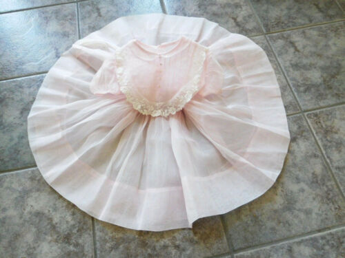 Vintage Full Circle Girls' Pink Sheer Organza Part