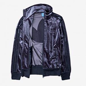 Details about adidas® Originals Firebird Women's Track Top Velour Jacket Legend Ink [Size XS]