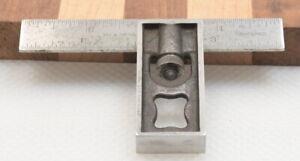 """Vintage 4"""" Lufkin No. 26 Double Square w/ Tempered No. 4 Grad Rule (INV L188)"""