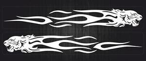 2x-Sticker-adesivi-adesivo-auto-moto-tuning-tribale-tigre-bianco
