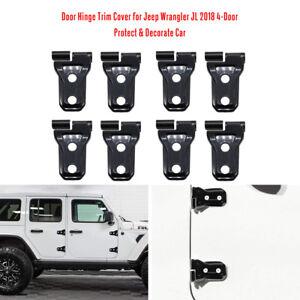 8X-Door-Hinge-Trim-Cover-for-Jeep-Wrangler-JL-2018-Unlimited-4-Door-Black-L2T7
