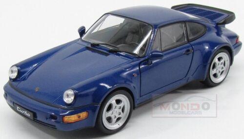Porsche 911 964 Turbo 1990 Bleu Met Welly 1:24 Carte02493716