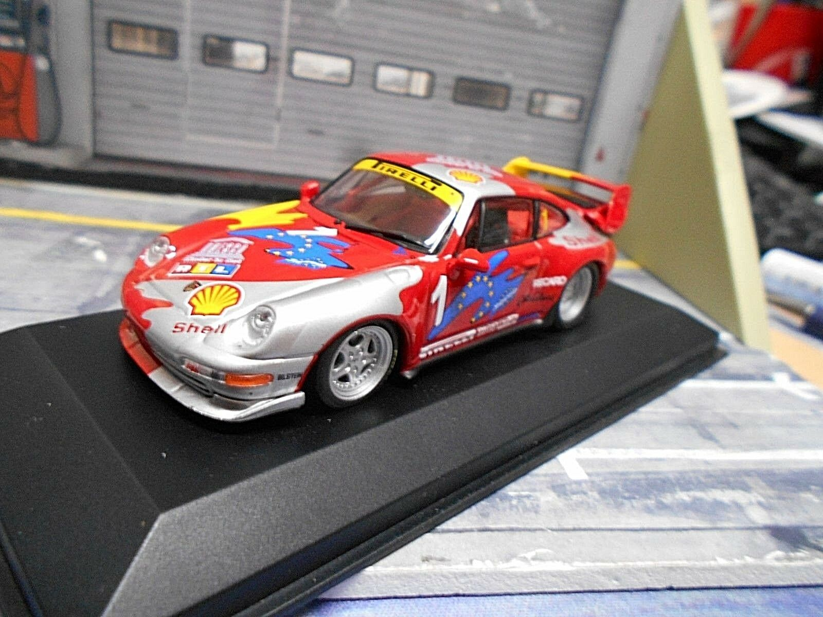 PORSCHE 911 993 gt2 RS CARRERA CUP SUPER  1 VIP RTL Shell 1995 Minichamps 1:43