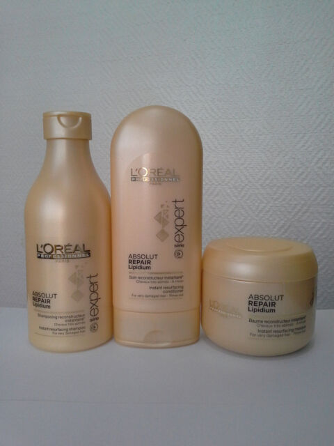 L'OREAL EXPERT ABSOLUT REPAIR Lipidium Shampoo, Conditioner and Masque small set