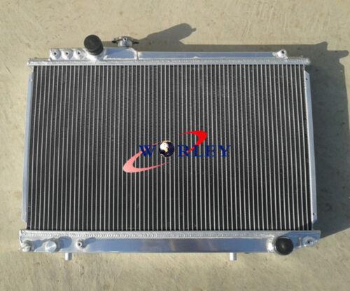 For 1986-1992 Toyota Supra Soarer MK3 7M-GTE 3-ROW Aluminum Radiator 87 88 89 90