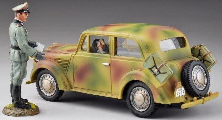 Thomas Gunn WW2 Deutsch Normandie V007A 1937 Modell Hell Dienstwagen Set MIB