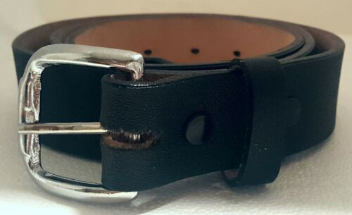 BLACK 33mm Cinto de Trabajo Anca de Potro Men/'s Leather Heavy Duty Work Belt