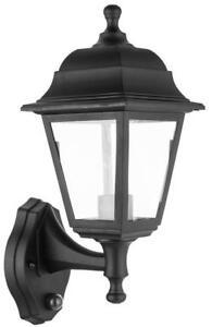 ASD Smile Black LED 4000k Opal Light Wall Light with PIR Sensor Outdoor Security