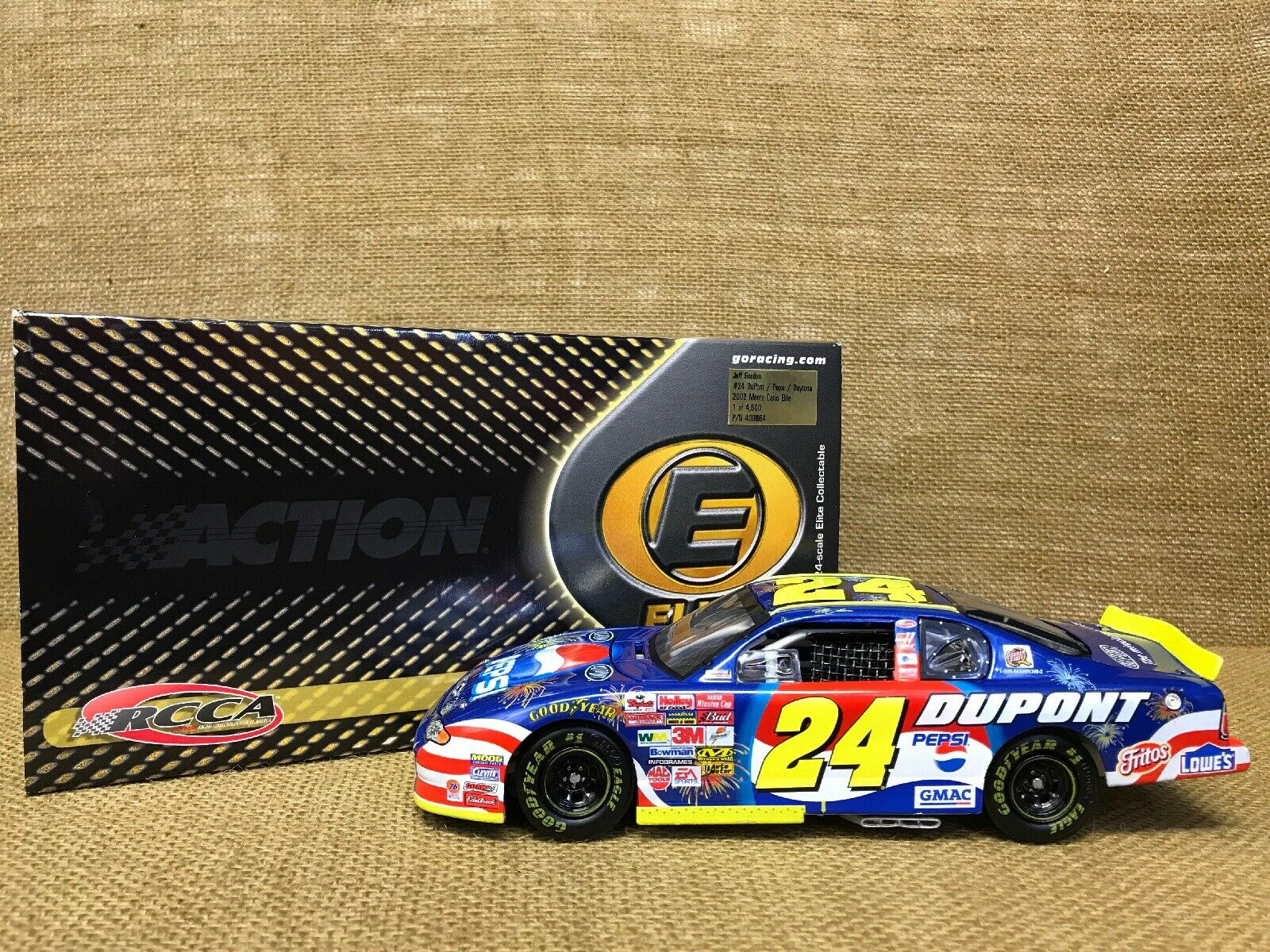 Action Elite 2002 NASCAR Dupont Pepsi Daytona Jeff Gordon Chevy Monte Carlo