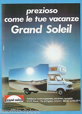 AIRONE982-PUBBLICITA/'//ADVERTISING-1982 GRAND SOLEIL MOTORCARAVAN E CAMPER