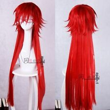 Fashion Anime Black Butler Grell Sutcliff Wig Red Cos Prop STANDARD wigs