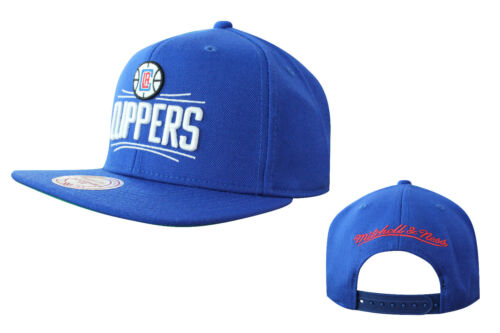 Mitchell /& Ness LA Clippers Adjustable Snapback Adults Cap Hat Blue NL99Z UW48