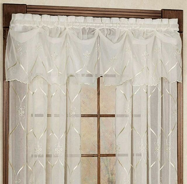 Croscill Home Federal Valance Cavalier Sheer Ivory 0502a For Sale Online Ebay
