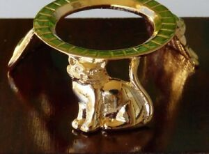 USA CDS001 Cat Sphere /& Egg display Stand 22K Gold Plate