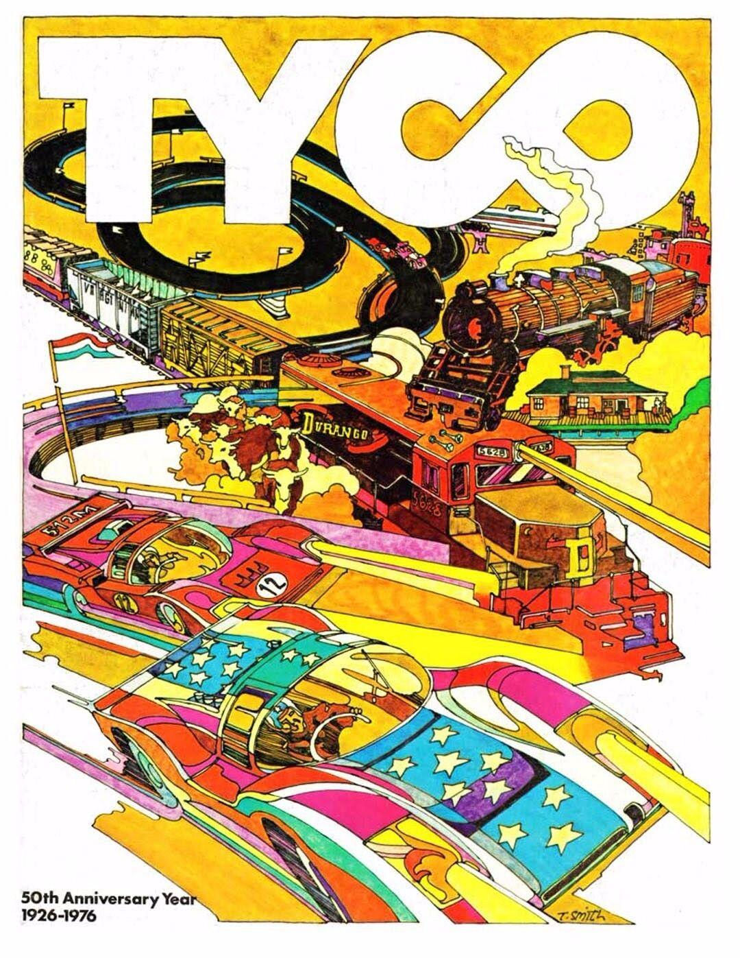 Original 1976 TYCO TOYS dealers' trade CATALOG slot cars trains w/orig pricelist