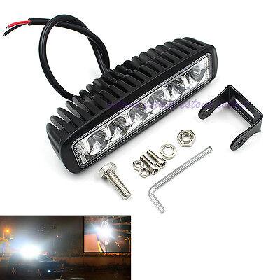 6Inch 18W 6LEDs 4WD Work Light Car SUV Offroad Fog Bar Spot Driving Lights