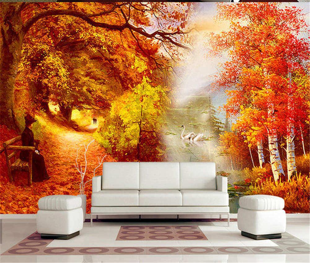 Complex Pure Autumn 3D Full Wall Mural Photo Wallpaper Printing Home Kids Decor