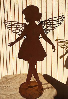 Beetstecker Engel aus Edelrost 2 Modelle Figur Garten Gartenfigur Weihnachtsdeko