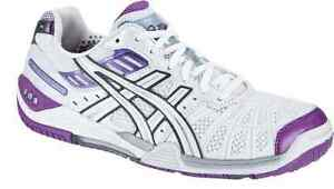 New Asics Gel Cyber Speed Womens Indoor Courts Trainers P173Y 0102 UK Size 4.5