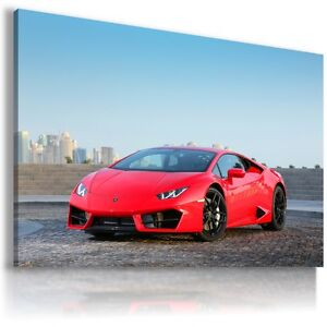 Image Is Loading LAMBORGHINI HURACAN RED Super Sport Car Large Wall