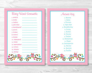 photograph relating to Printable Baby Word Scramble called Information around Red Kid Owl Delight in Birds Printable Kid Shower \