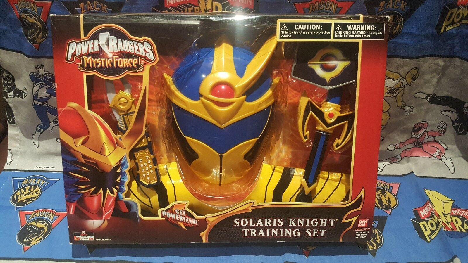 Power Rangers Mystic Force SOLARIS KNIGHT Training Set New 9  Mask Morpher sword