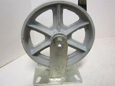 8 Rigid General Purpose Cast Iron Caster Wheel Plate Size 4 12 X 6 14