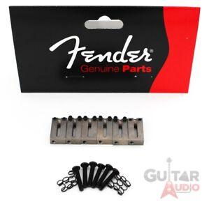 Genuine Fender American Standard Satin Chrome Strat/Tele OFFSET Bridge Saddles