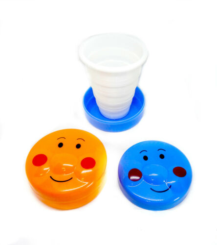 4 Pack Childrens Foldable Drinking Cup Perfect For Lunch Boxes Reusable