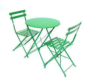 Green Bistro Set Green Balcony Set Folding Bistro Table 2 Chairs EBay