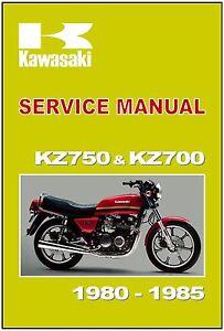 kawasaki workshop manual kz750 z750 kz700 z700 1980 1981 1982 1983 rh ebay com Kawasaki K Z Kawasaki KZ750
