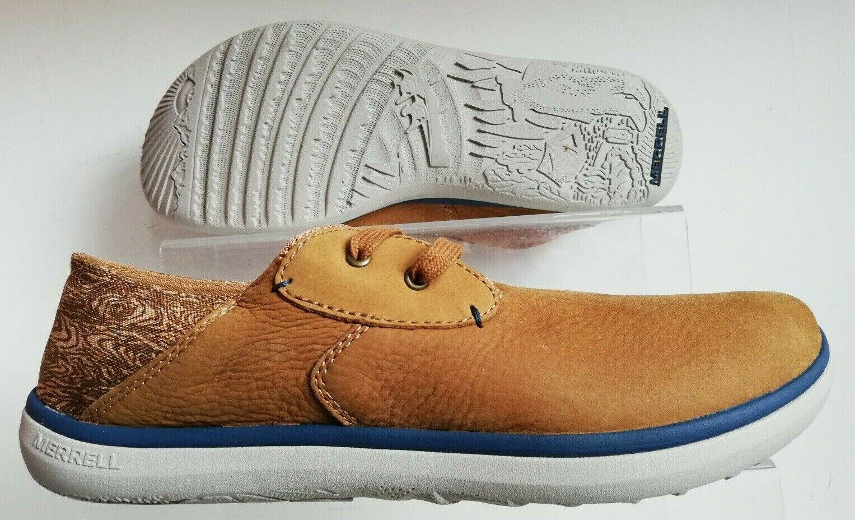 Merrell Para Hombre duskair Suave Luz Encaje Informal  Cuero Marrón Zapatillas Zapatos 8  conveniente