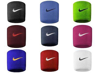 Delizioso Nike Swoosh Braccialetti Sudore Sport Tratto Insieme 2 Campi Da Calcio Ufficiale Buono Per Succhietto Antipiretico E Per La Gola