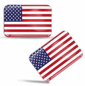 Autocollants-3D-Resine-Drapeau-Etats-Unis-Americain-USA-American-Flag-Stickers