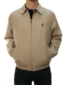 Polo-Ralph-Lauren-Men-039-s-Full-Zip-Perry-Lightweight-Jacket-Beige-Khaki-Size-Large