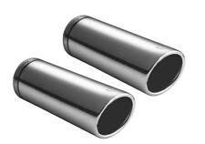 Cubierta de escape tubo tubería doble 2x 70mm F. bmw e60 e61 520 523 525 530