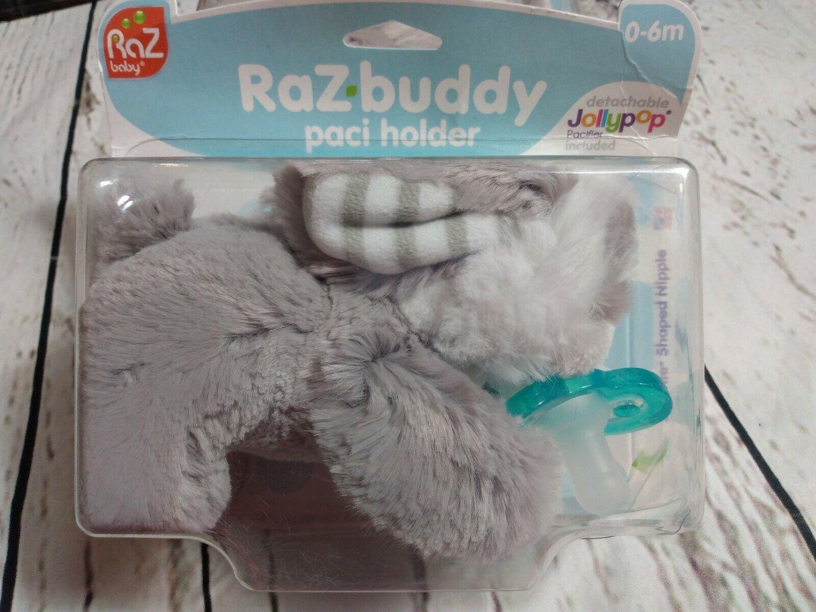 Pacifier Removable Grey Penguin RaZbaby RaZ-Buddy JollyPop Pacifier Holder