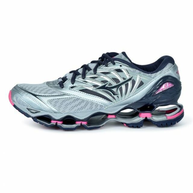 on sale aa4af daa28 Mizuno Wave Prophecy 8 Women's Running Shoes Quarry Graphie Pink J1GD190053  18N