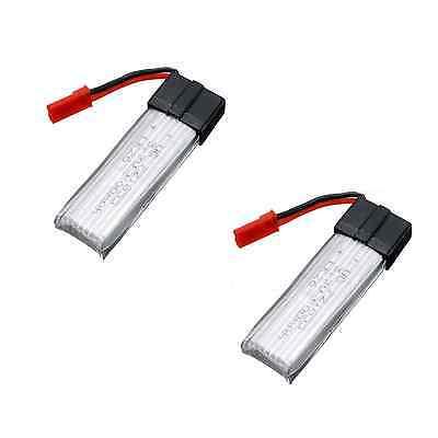 2x Lipo AKKU für DROHNE Copter Rayline R807V R807 V RC 600mAh 3,7V 1s Batterie
