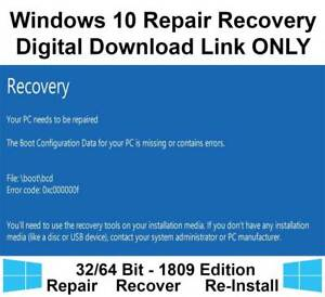 Details about Windows 10 Home Pro 32/64 Bit Recovery Repair Restore  Download Link Image ISO