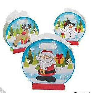 Pack-of-12-Christmas-Snow-Globe-Gift-Bags