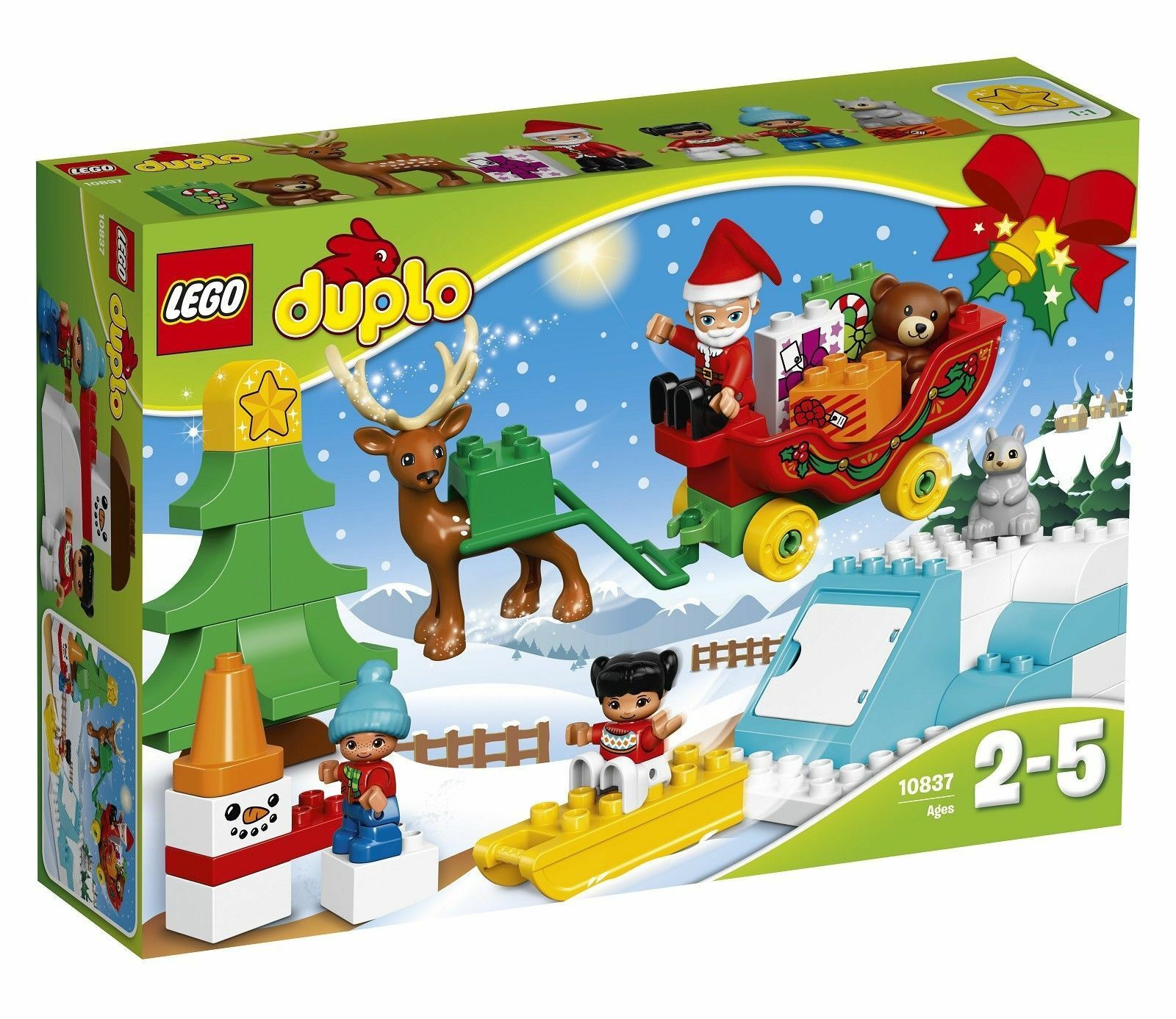 LEGO Duplo Santa's Winter Holiday 2017 (10837) with Father Christmas & Reindeer.