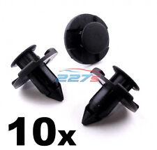 10x NISSAN Passaruota Fodera Clips / ENGINE Bay Scudi - 8MM in Plastica Clips TRIM