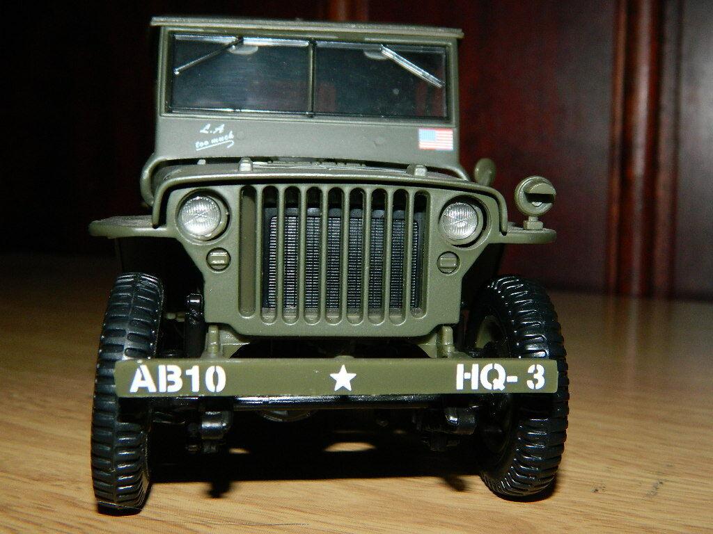 Willys Overland jeep modelo 1 18 exposición modelCoche de solido
