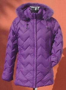 Details zu Daunenjacke Winterjacke Damen BL2153 in Camel & 36,38 Kapuze Pelz Steppjacke