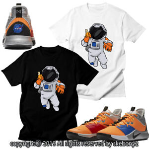 new product 860a5 39dd2 Details about CUSTOM T SHIRT matching STYLE OF PG 3 NASA Nike PG 1-4-3