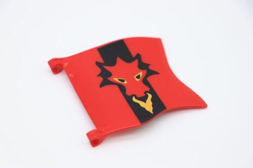 Knights 5757 Chevaliers 3319 Moyen-Age PLAYMOBIL Drapeau du dragon rouge