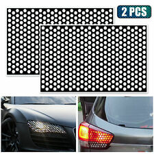 2x Diy Rear Tail Light Cover Black Honeycomb Sticker Tail Lamp Accessories Fits 2002 Mitsubishi Eclipse