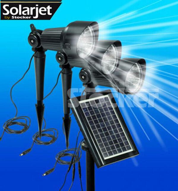 Set 3 Lampade solari STOCKER mod. Set Superspotlight